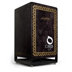 Leiva Percussion Cajón Omeya Bass Studio Black