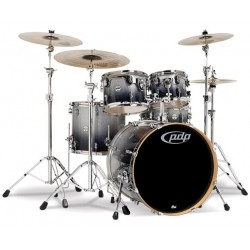 PDP by DW Concept Maple CM5 Standard Silver to Black Sparkle Fade