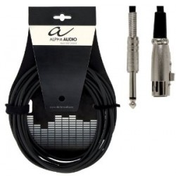ALPHA AUDIO Cable Jack Stereo - XLR 3 mtrs