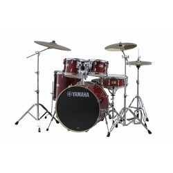 YAMAHA Stage Custom Birch Studio Cranberry Red + HW680W