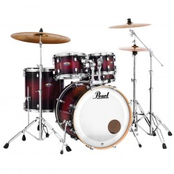 Pearl Decade Maple Fusión Deep Rojo Burst