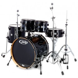 PDP by DW Concept Maple CM5 Studio Black Sparkle con herrajes