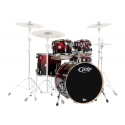 PDP by DW Concept Maple CM5 Standard Red to Black Sparkle