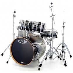PDP by DW Concept Maple CM5 Standard Silver to Black Sparkle