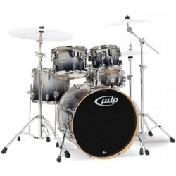 PDP by DW Concept Maple CM5 Studio Silver to Black Sparkle