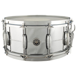 "Gretsch Brooklyn Chrome Over Brass GB4164 14x6.5""B Stock"