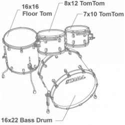 Tama Starclassic Maple 4-piece shell pack with 22 bass drum, Black Nickel Shell Hardware