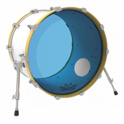 "Remo 22"" Powerstroke 3 Colortone Blue P3-1322-CT-BUOH"