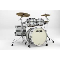Tama Starclassic Maple Standard Silver Snow Racing Stripe (Black Nickel)