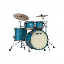 Tama Starclassic Maple Standard Flat Steel Blue Metallic (Smoked Black Nickel)