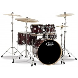 PDP by DW Concept Maple CM6 Red to Black Sparkle