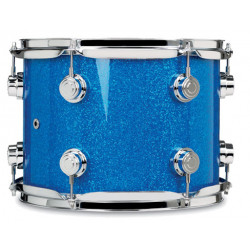 """DW Collector Tom 10x08"""" Finish Ply Blue Glass"""