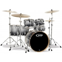 PDP by DW Concept Maple CM6 Silver to Black Sparkle con herrajes