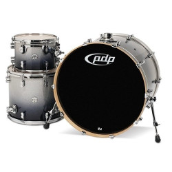 PDP by DW Concept Maple Rock Silver to Black Sparkle